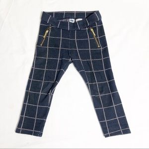 janie and jack navy and pink plaid Legging 2T